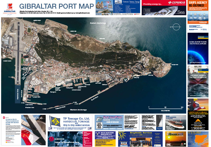 Gibraltar Port Map image 1