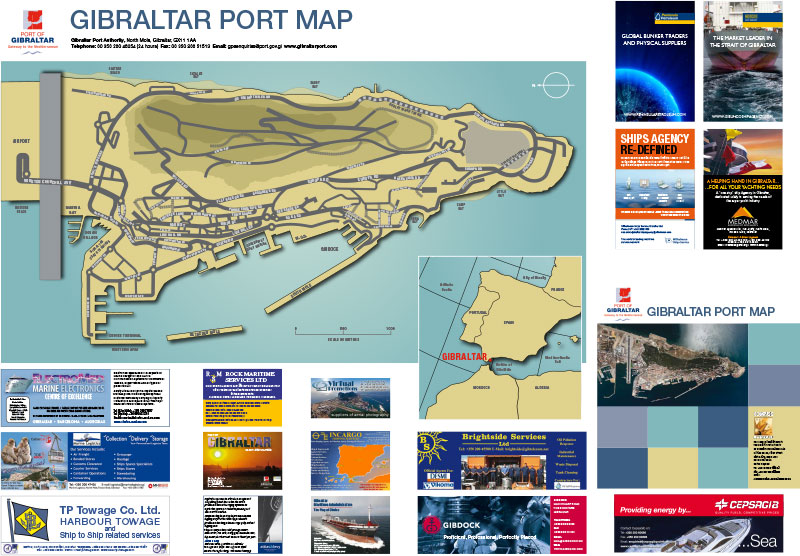 Gibraltar Port Map image 2
