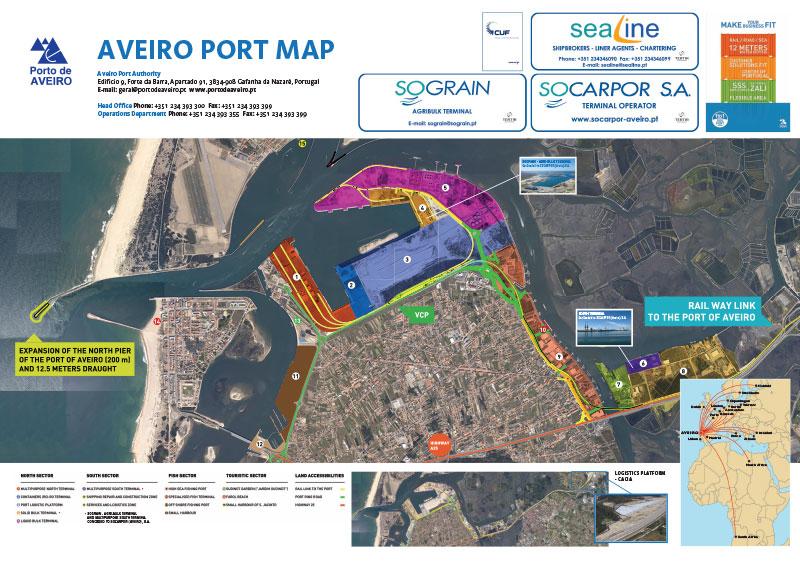 Aveiro Wall Map