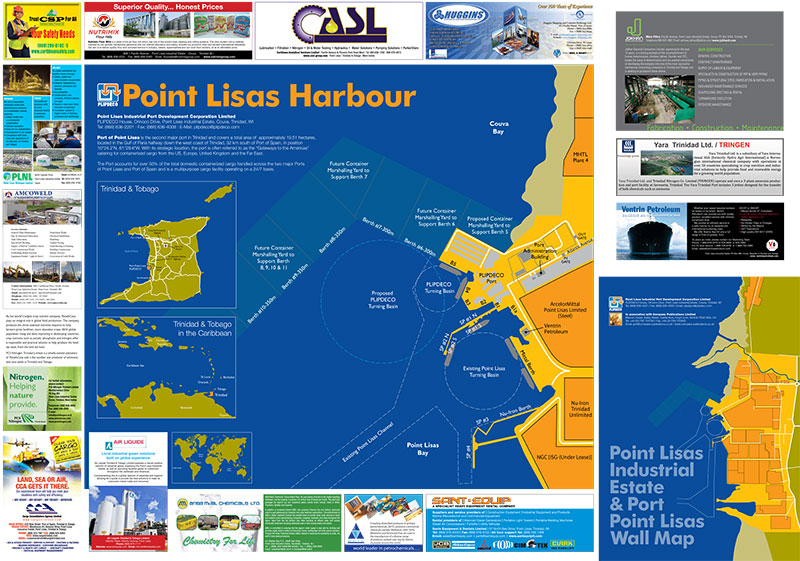 Point Lisas Harbour Wall Map